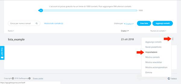 creare-mailinglist-getresponse